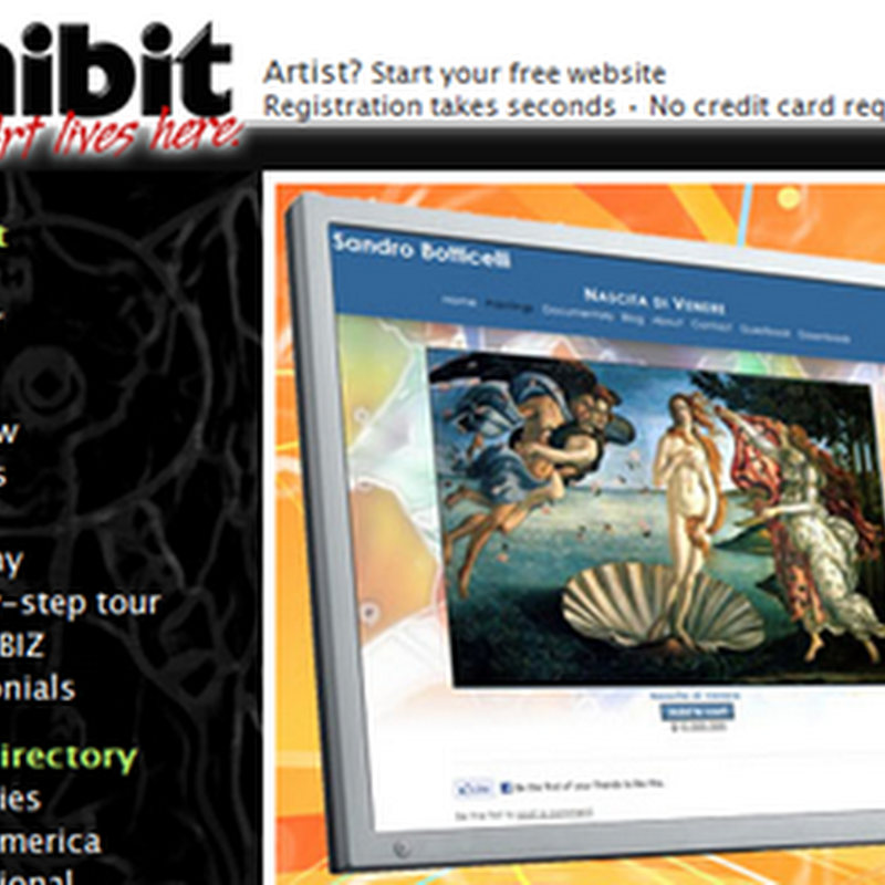 Zhibit.org – Easy Websites for Artists