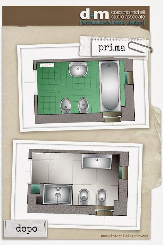 case e interni - dm studio - ristrutturazione bagno PRIMA-DOPO
