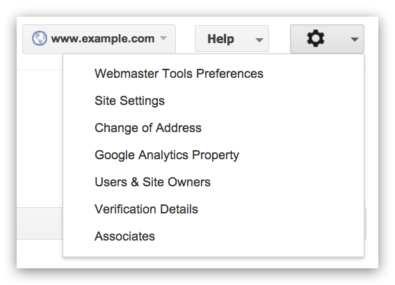 Administrative Setting in Webmaster Tools