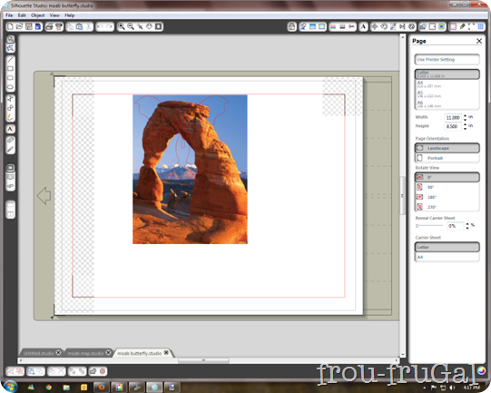 moab arch butterfly