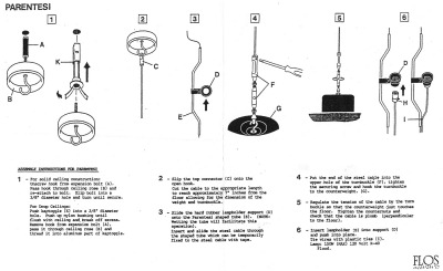 Parentesi lamp installation instructions