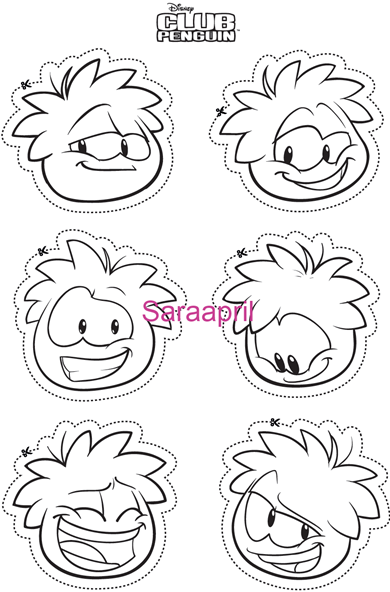 club penguin puffles coloring pages - saraapril in club penguin rainbow puffle game outdoor