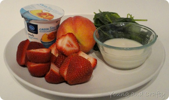 Strawberry Peach Smoothie 1