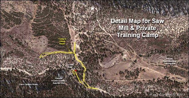 MAP-Clark Road Hike