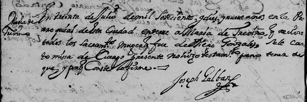 Anna Maria de Trevino, FamilySearch, Monterrey, Death, 1719 Pg 124.jpg