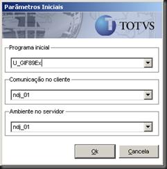 Totvs Protheus Parâmetros Iniciais