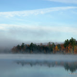 E. Horsehead Lake with Fall Color and Fog / Onida County / Northern Wisconsin