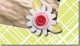 dettaglio fiore feltro
