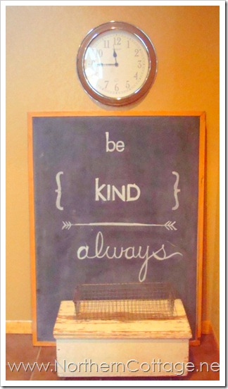 kindness chalkboard@NorthernCottage.net