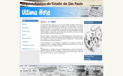 Página inicial do arquivo do jornal Última Hora