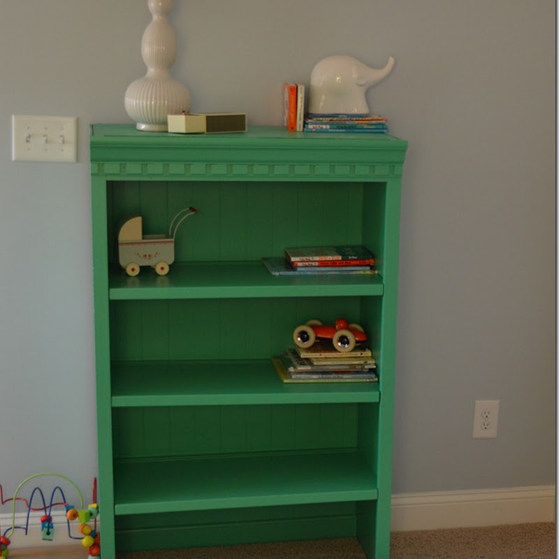 Baby Ian's DIY Bookcase: Pantone Emerald Green Style…