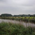 im Fluss Tal entlang der Westerwoldse Aa