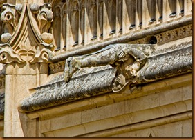 Toledo, cloister, San Juan los Reyes, gargoyle