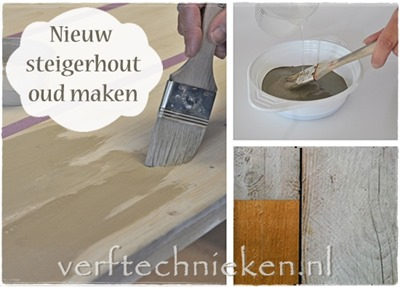 Steigerhout vergrijzen - Verftechnieken.nl