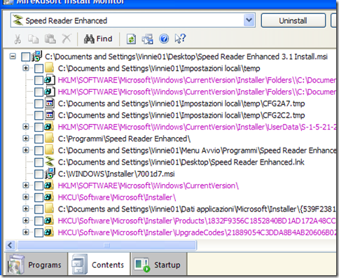 Mirekusoft Install Monitor Contents