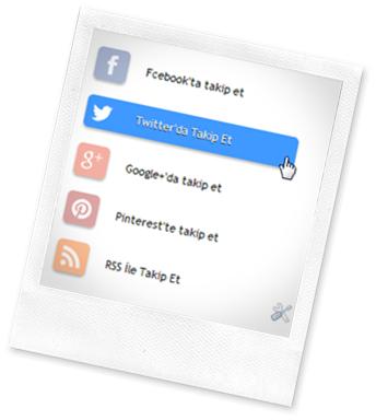 CSS3 Sosyal Butonlar