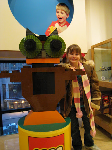 Natalie in the Lego Store - Chicago