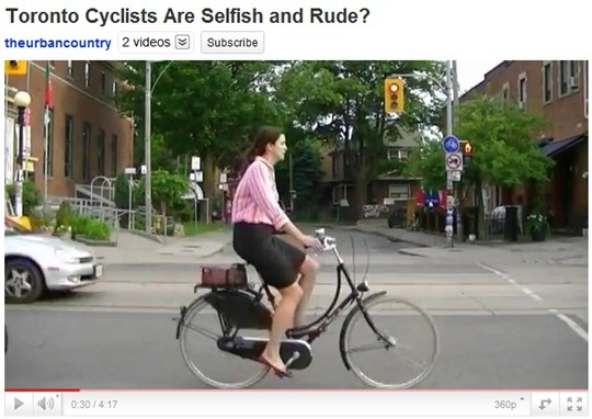 TorontoCyclistsSelfishRude