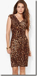 Lauren Ralph Lauren Leopard Print Cap Sleeve Dress