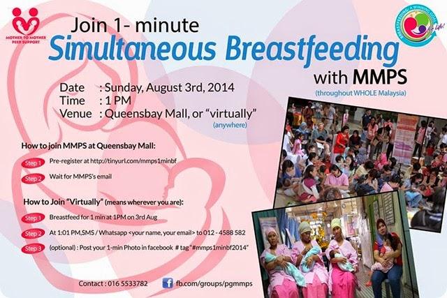 1 minute simultaneous breasrfeeding