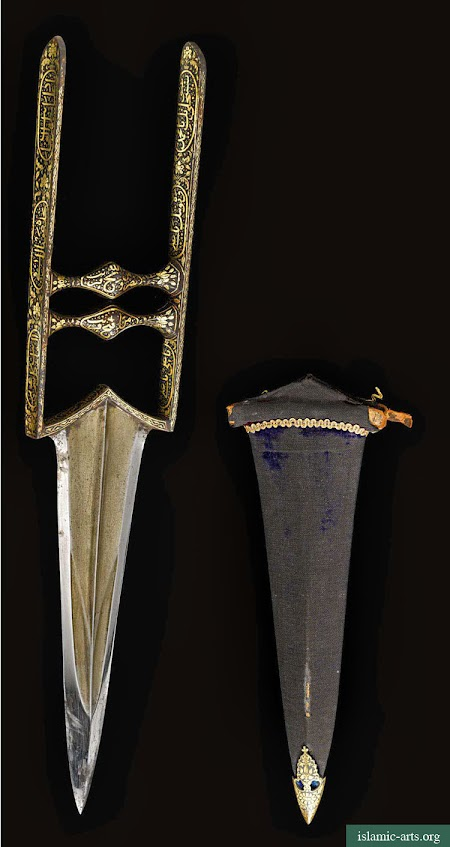 A KOFTGARI KATAR AND SCABBARD, INDIA, CIRCA 18TH CENTURY