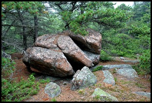 23g - heading down the mountain - Beautiful Pink Granite Boulder