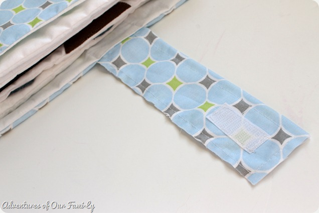 Quiet book cover template strap velcro