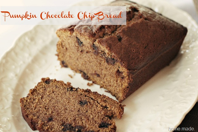 pumpkin chocolate chip bread 2