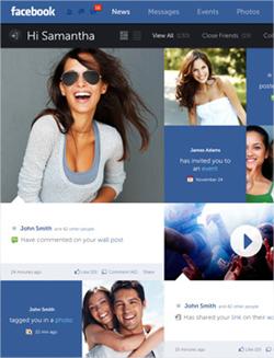 Un increíble concepto de interfaz para Facebook