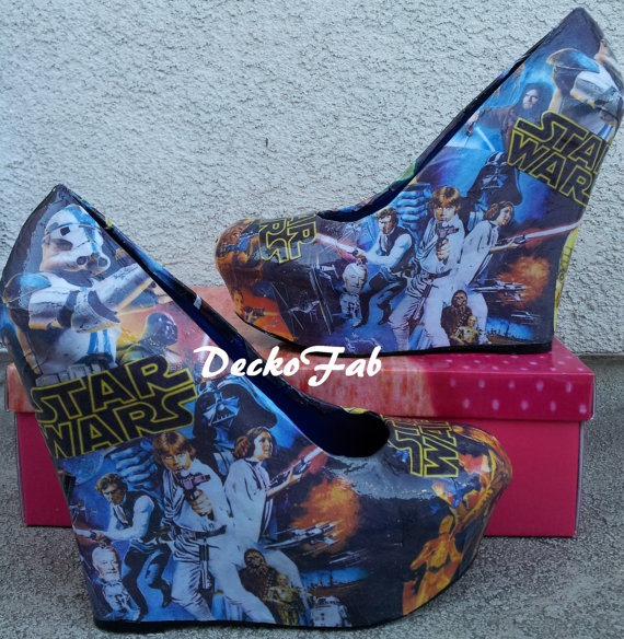 Star Wars Wedges from DeckoFab on Etsy
