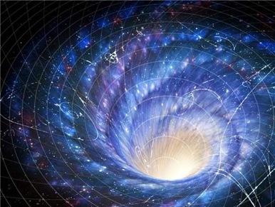 torção espacial devido rotação de galáxia