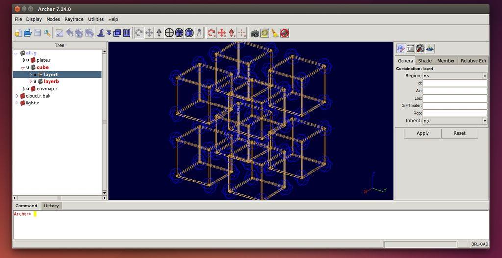 Brl cad software per il disegno tecnico 3d per linux for Windows cad software