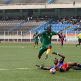 – Léopards espoirs-football de la RDC (bleu) contre les lionceaux du Cameroun (vert) ce 26/07/2011 au stade des Martyrs à Kinshasa, score RDC-Cameroun : 1-0. Radio Okapi/ Ph. John Bompengo