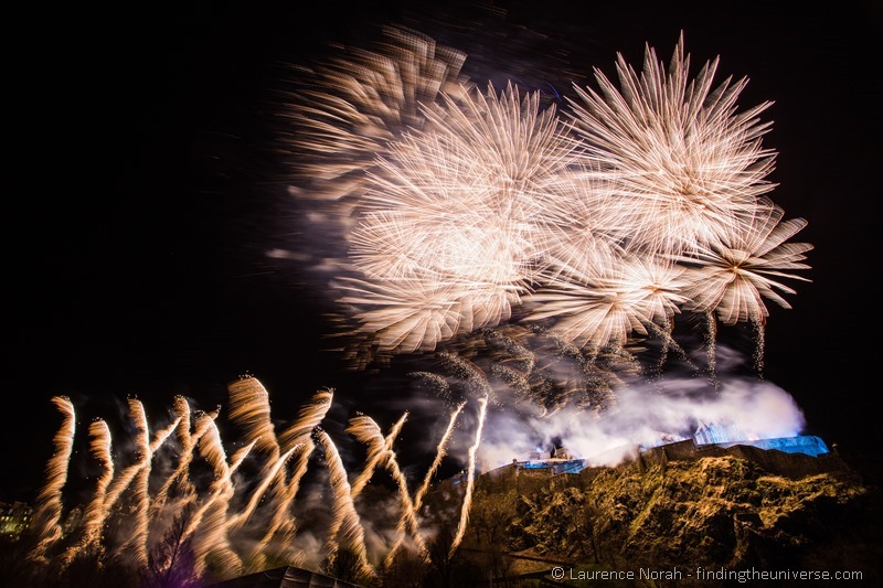 new years eve fireworks edinburgh castle