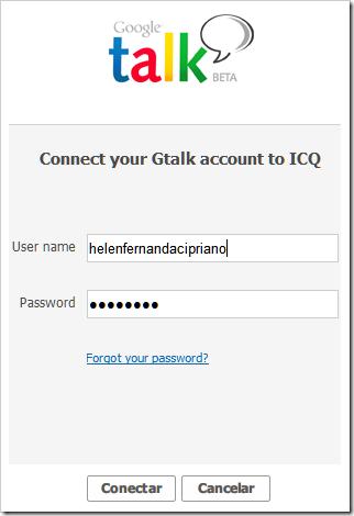 Conectar GTalk ao ICQ