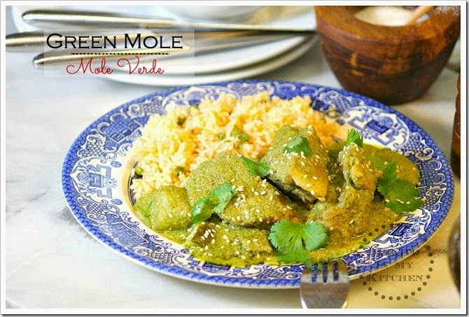 Green mole verde green chicken