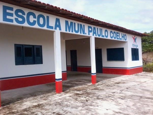 Escola  Páulo Coelho (Arara Azul) construída na gestão de Vete Botelho