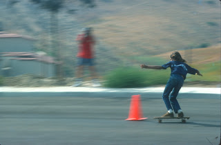 Speeding through the cones at La Costa (Warren Bolster in Background)
