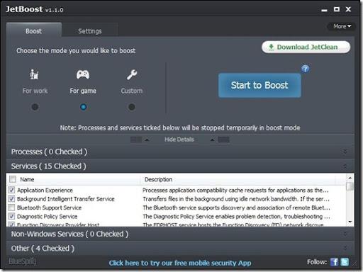 تحميل JetBoost 2.0.0.67 لتسريع عمل البروسيسور