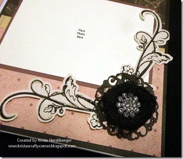 La Belle Vie_6x6 accordian album tulle flower close up