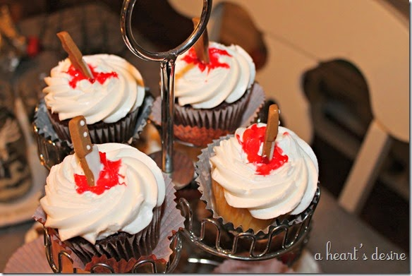 knife cupcakes