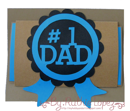 #1 Dad card - Tutorial Jardin de Ideas - Retos Abby - Ruthie Lopez