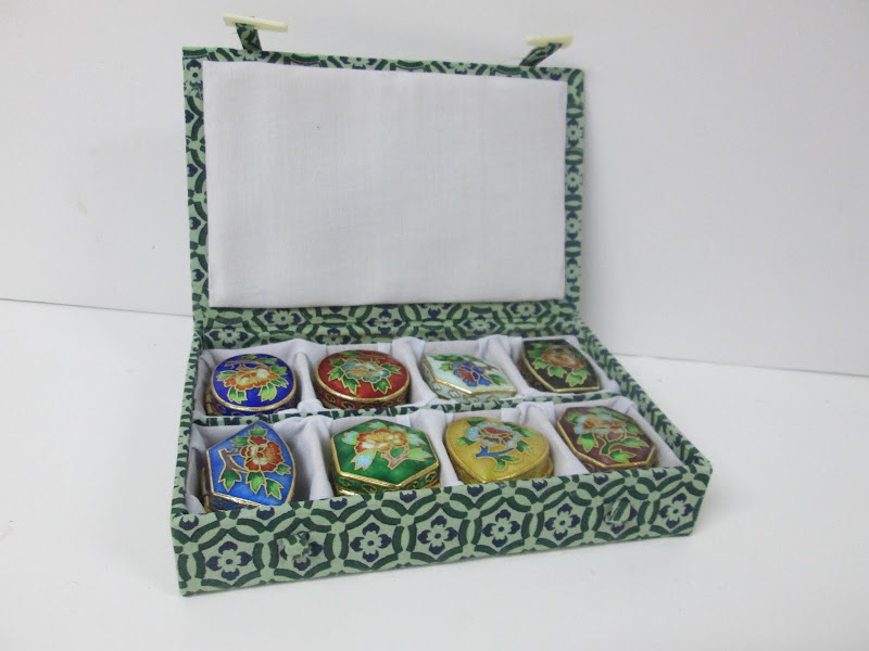 Cloisonne Pill Box Set