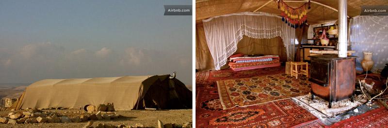 Дом палатка в пустыне