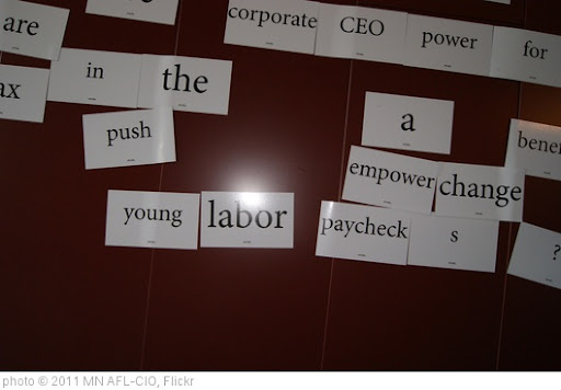 'young labor paycheck' photo (c) 2011, MN AFL-CIO - license: http://creativecommons.org/licenses/by/2.0/