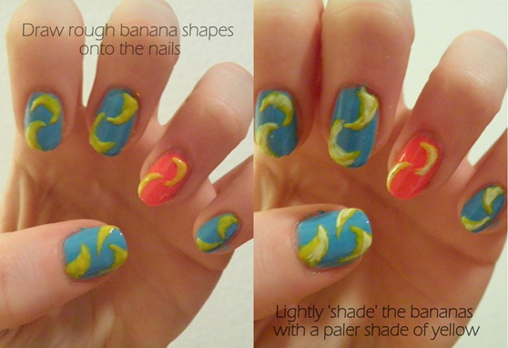 BANANA NAIL TUTORIAL 10