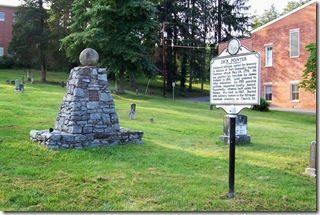 Dick Pointer marker and monument in African-American cemetery in Lewisburg, WV