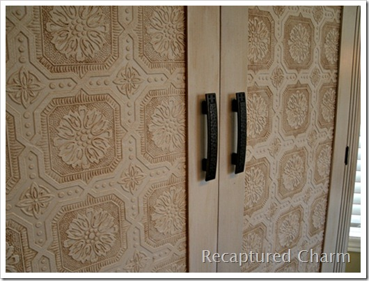 wallpapered armoire 027a