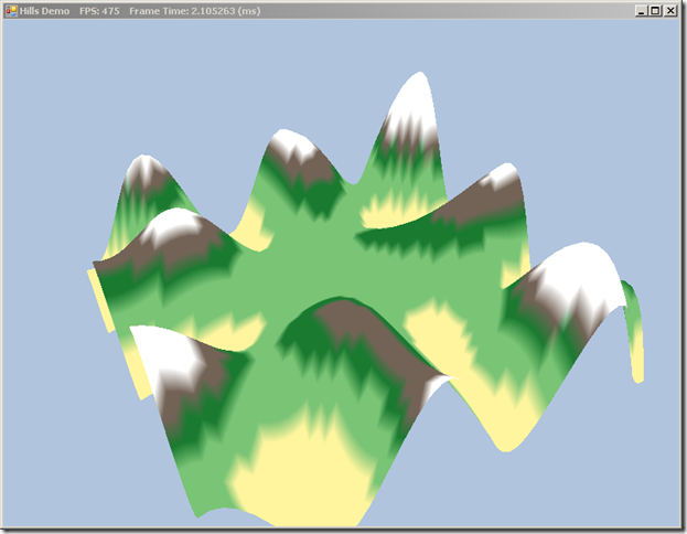 Hills Demo with SlimDX and C#