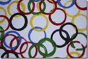 Olympic Ring Art from Happy Hooligans